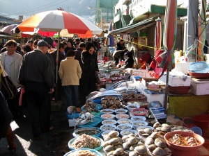 South Korea's famous open-air fish market