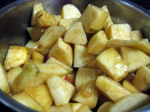 Apples in the pot, before cooking